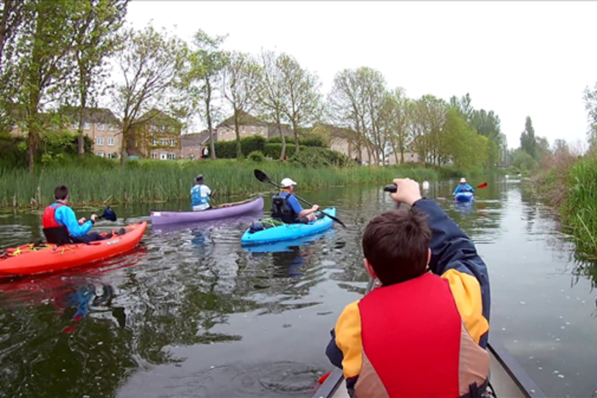 Kayaking with Dereham Canoe Group