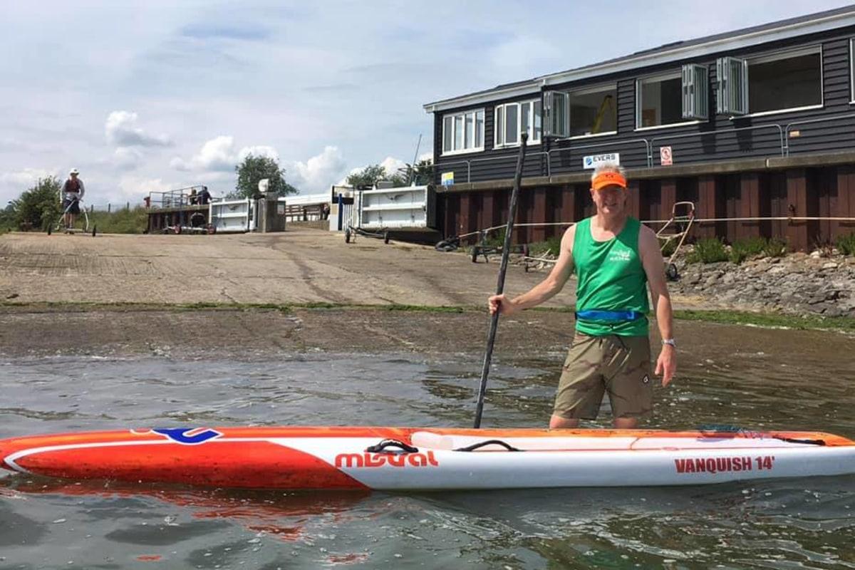 Mike Frangipani SUP charity paddle Maldon Essex