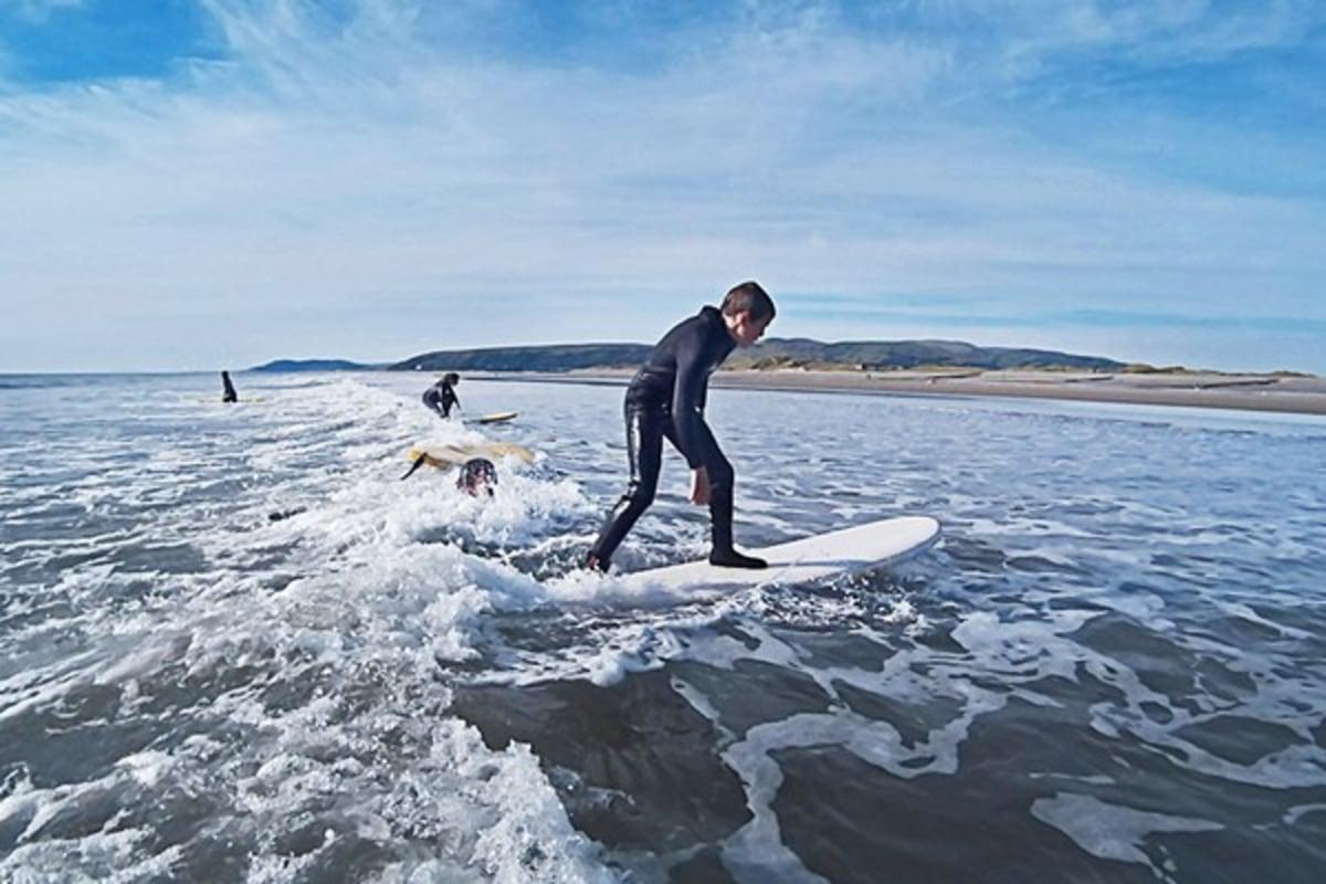 Surfing with Aber Adventures