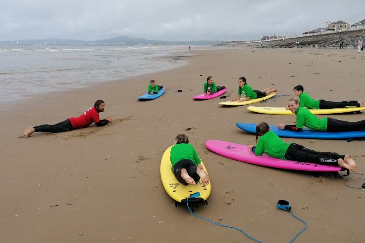 Surfing with Cressey's Surf Academy