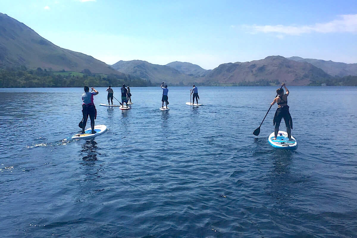 ullswater stand-up paddleboarding lake district