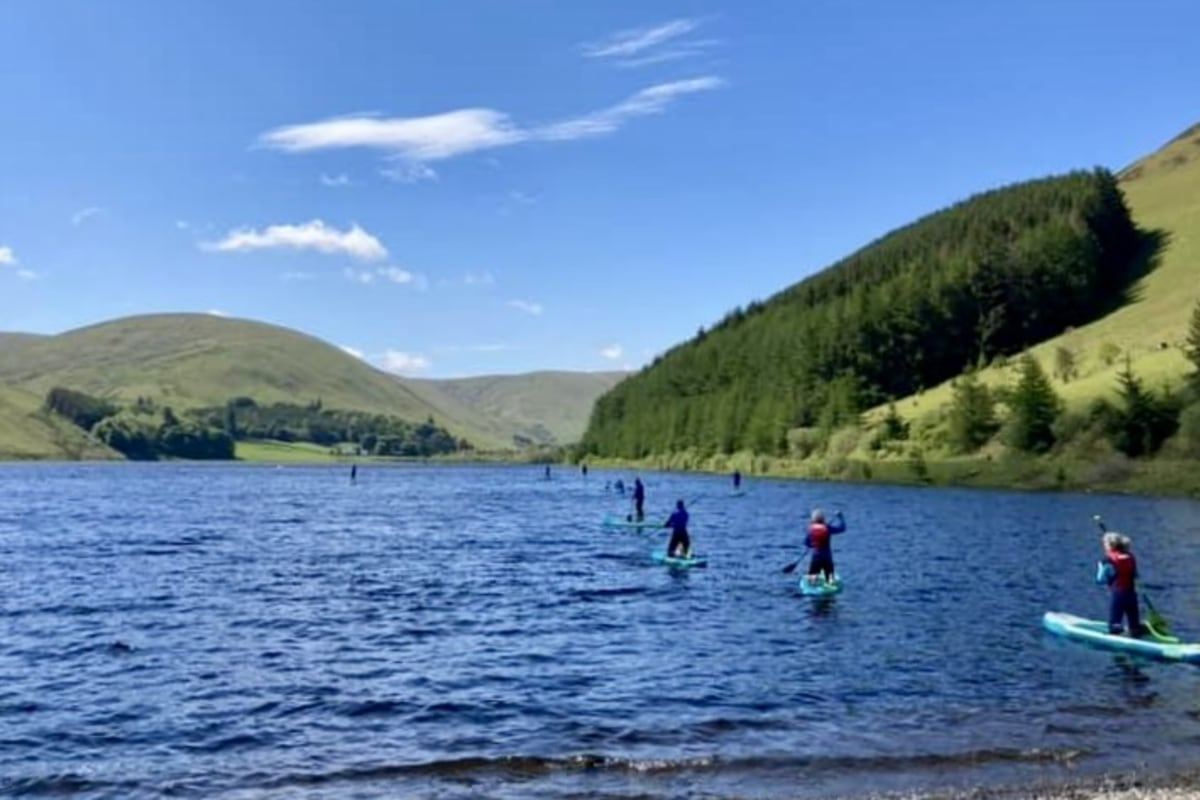 Book paddleboarding with SUP Hire and Sales Scottish Borders