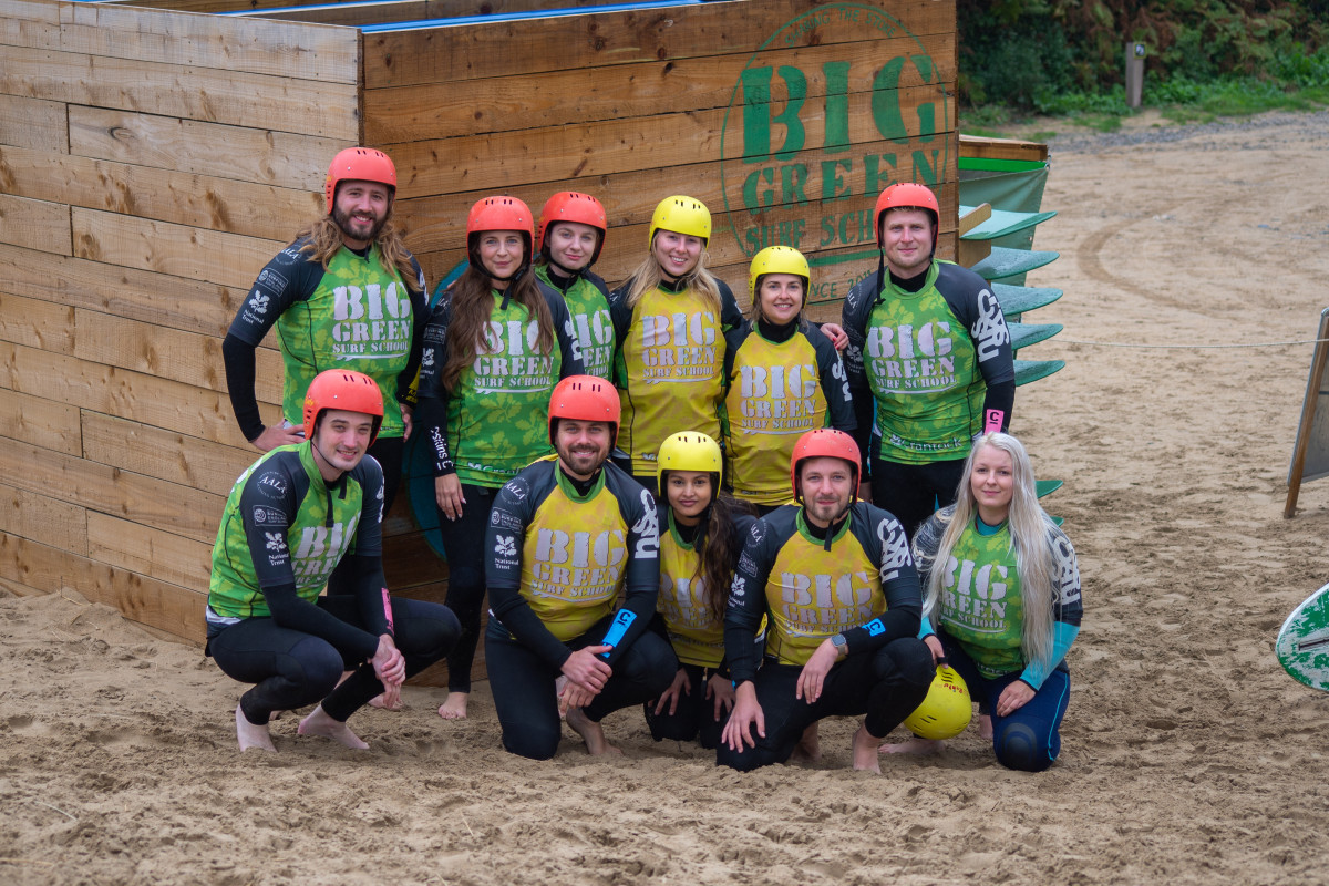 eola team stand-up paddleboarding