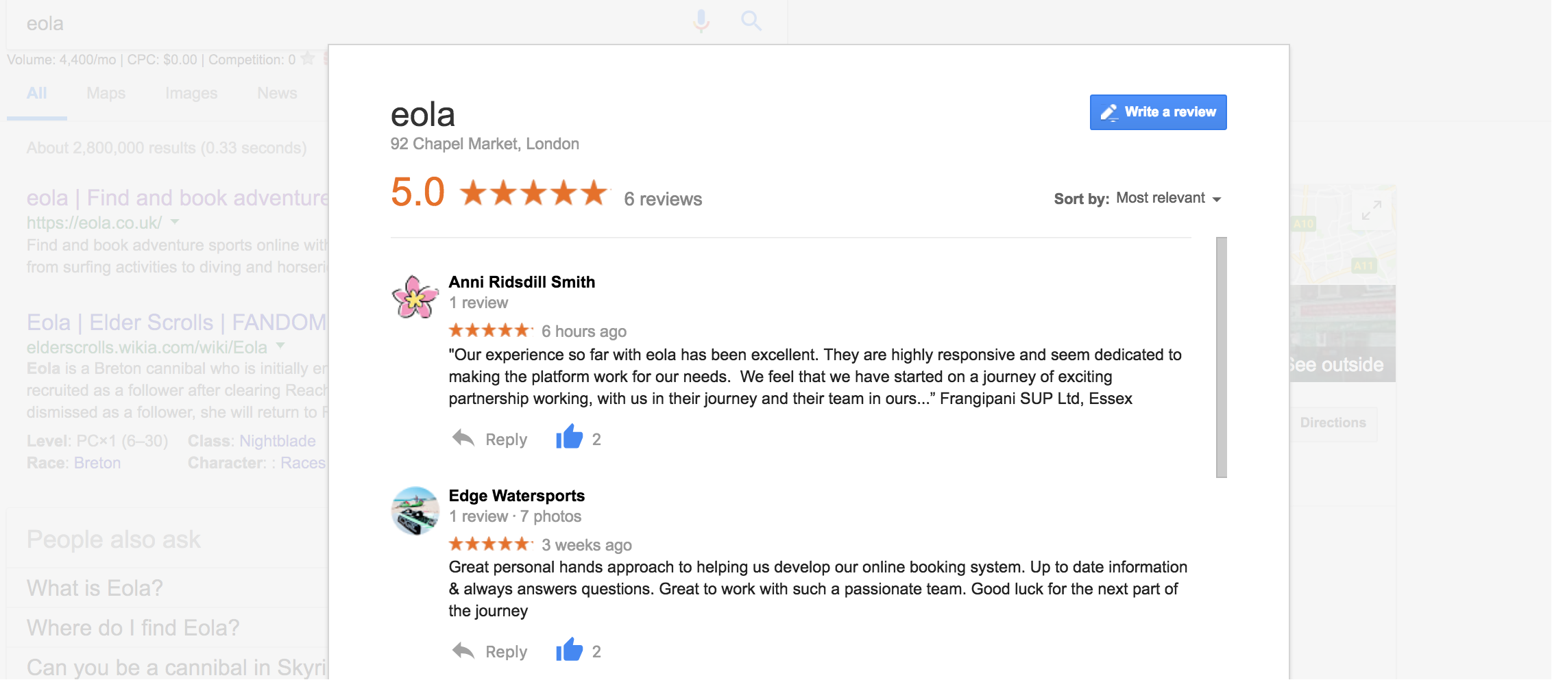 Reviews of eola