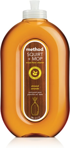 Method Squirt Mop Wood Floor Cleaner Almond - How to remove mop and glo from hardwood floors