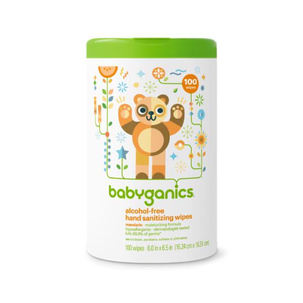 Babyganics Hand Sanitizing Wipes Alcohol Free Mandarin 20