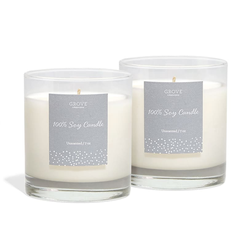 Lg 40hr UNSCENTED AMBIENT MOOD LIGHTING 100/% PURE ORGANIC SOY WAX CANDLE TIN