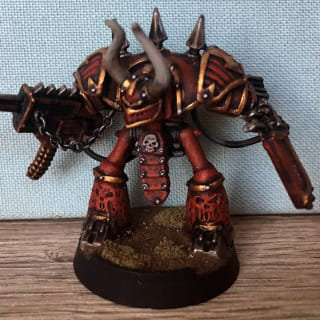 EpiComp 2018 Best Single Model (Pictured: Chaos Knight of Khorne - Warmaster Nice)