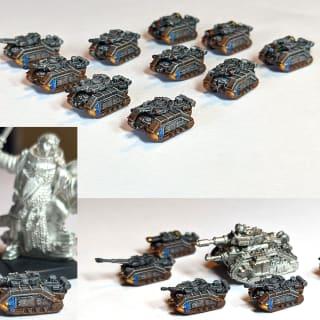 EpiComp 2019 Vanguard Miniatures (Pictured: Epic 3mm Solar Auxilla Armoured Coy - Apocolocyntosis)