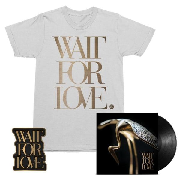 Wait For Love LP, T-Shirt + Pin