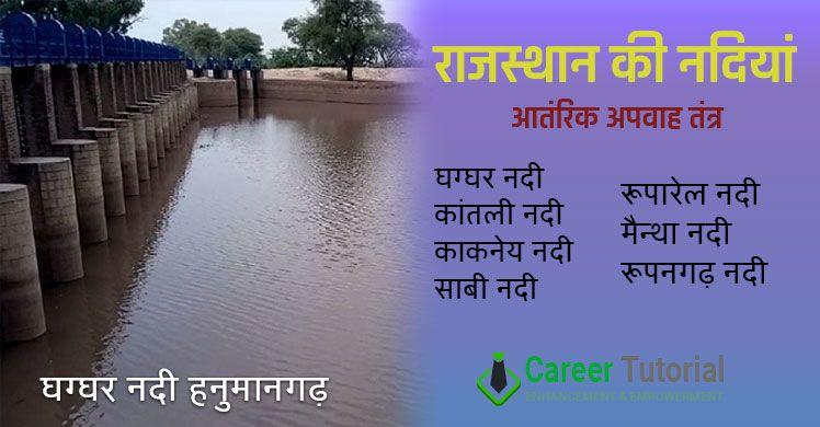 Rajasthan me nadiyan ka antarik apvah tantra