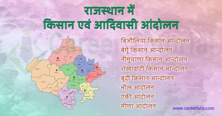 Rajasthan me kisan evam aadivasi andolan