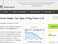 Short-Seller Citron Research Slams Plug Power