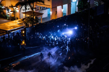 Hong Kong Police Shoot Protester, Man Set on Fire