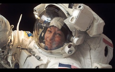 Space Superstars: Whitson Ties Record for Most Spacewalks by a Woman.