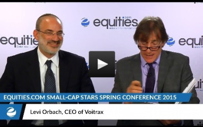 Levi Orbach of Voitrax at the recent Small-Cap Stars Conference