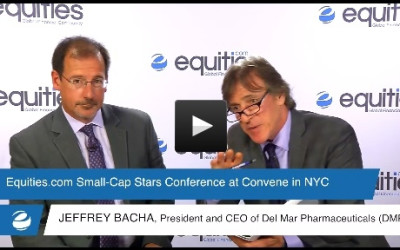 Jeffrey Bacha of Del Mar Pharmaceuticals Inc. (DMPI) speaks with Equities.com at the Small-Cap Stars Spring Conference 2015