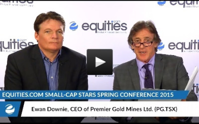 Ewan Downie of Premier Gold Mines (PG.TSX) speaks with Equities.com at the Small-Cap Stars Spring Conference 2015