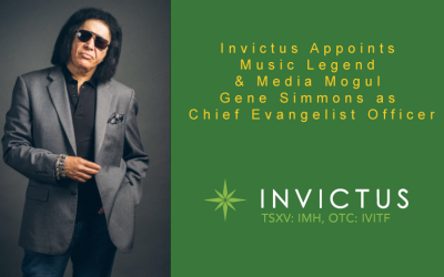 ​Invictus (IMH) (IVITF) Appoints Music Legend & Media Mogul Gene Simmons as Chief Evangelist Officer