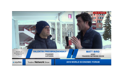Valentin Preobrazhenskiy Founder of LAToken Interview with Host Matt Bird at DAVOS2019 |Traders Network Show - World Economic Forum Pt. 1