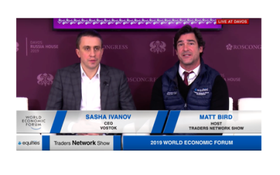 Sasha Ivanov CEO of Vostok Interview with Host Matt Bird at DAVOS2019 |Traders Network Show - World Economic Forum Pt.1