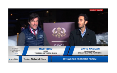 David Namdar Co-Founder of Galaxy Capital Partners interview with Host Matt Bird at DAVOS19 | Traders Network Show - World Economic Forum