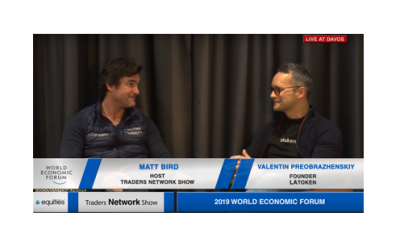 Valentin Preobrazhenskiy Founder of LAToken Interview with Host Matt Bird at DAVOS2019 |Traders Network Show | World Economic Forum
