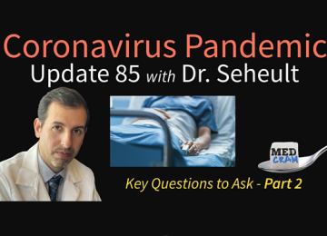 Coronavirus Pandemic Update: Dexamethasone; Questions to Ask If in the Hospital (Part 2)