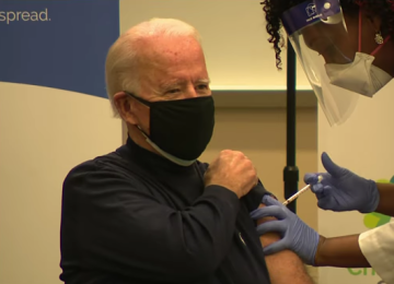 Joe Biden Gets COVID-19 Vaccine on Live Television: 'There's Nothing To Worry About'