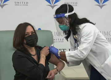 Vice President-Elect Kamala Harris Receives COVID-19 Vaccination Live on Television