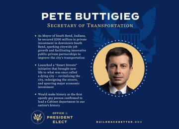 Pete Buttigieg Wins Senate Approval as Secretary of Transportation
