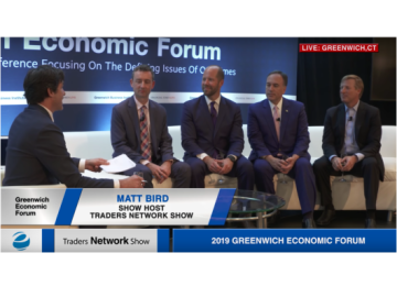 Jim Aiello, Bruce Mcguire, Simon Carkeek, Peter Tesei Exclusive Interview with Matt Bird at Greenwich Economic Forum | Traders Network Show – Equities News