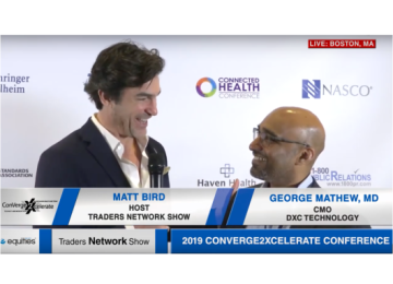 George Mathew from DXC Technology Exclusive Interview with Matt Bird at Converge2Xcelerate | Traders Network Show – Equities News