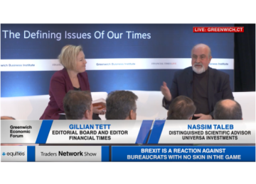 Gillian Tett and Nassim Taleb Deliver Fireside Chat at Greenwich Economic Forum | Traders Network Show – Equities News