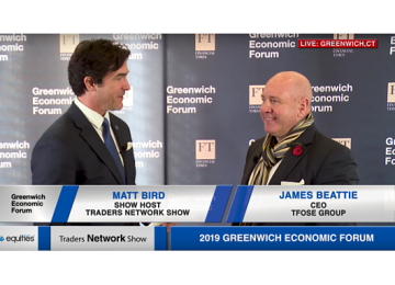 James Beattie CEO of tFOSE Interview with Matt Bird at Greenwich Economic Forum | Traders Network Show – Equities News