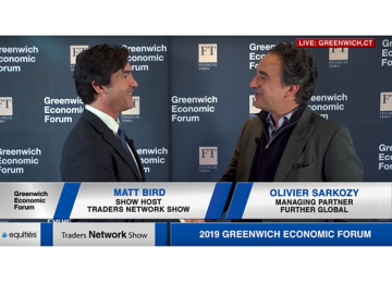 Olivier Sarkozy Managing Partner at Further Global Interview with Matt Bird at Greenwich Economic Forum | Traders Network Show – Equities News