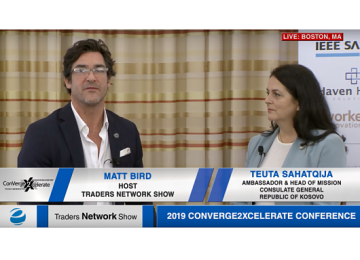 Teuta Sahatqija Exclusive Interview with host Matt Bird at 2019 Conv2x Conference | Traders Network Show – Equities News