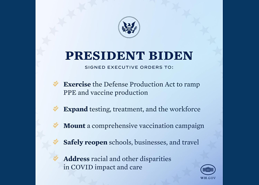 President Biden Signs 10 Executive Orders To Jump Start National COVID-19 Strategy