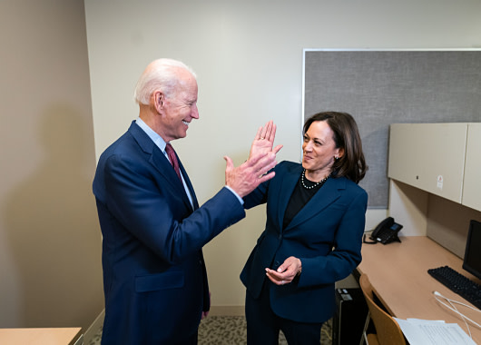 Biden and Harris Hold First News Conference Together; Attack Trump's Character and Performance