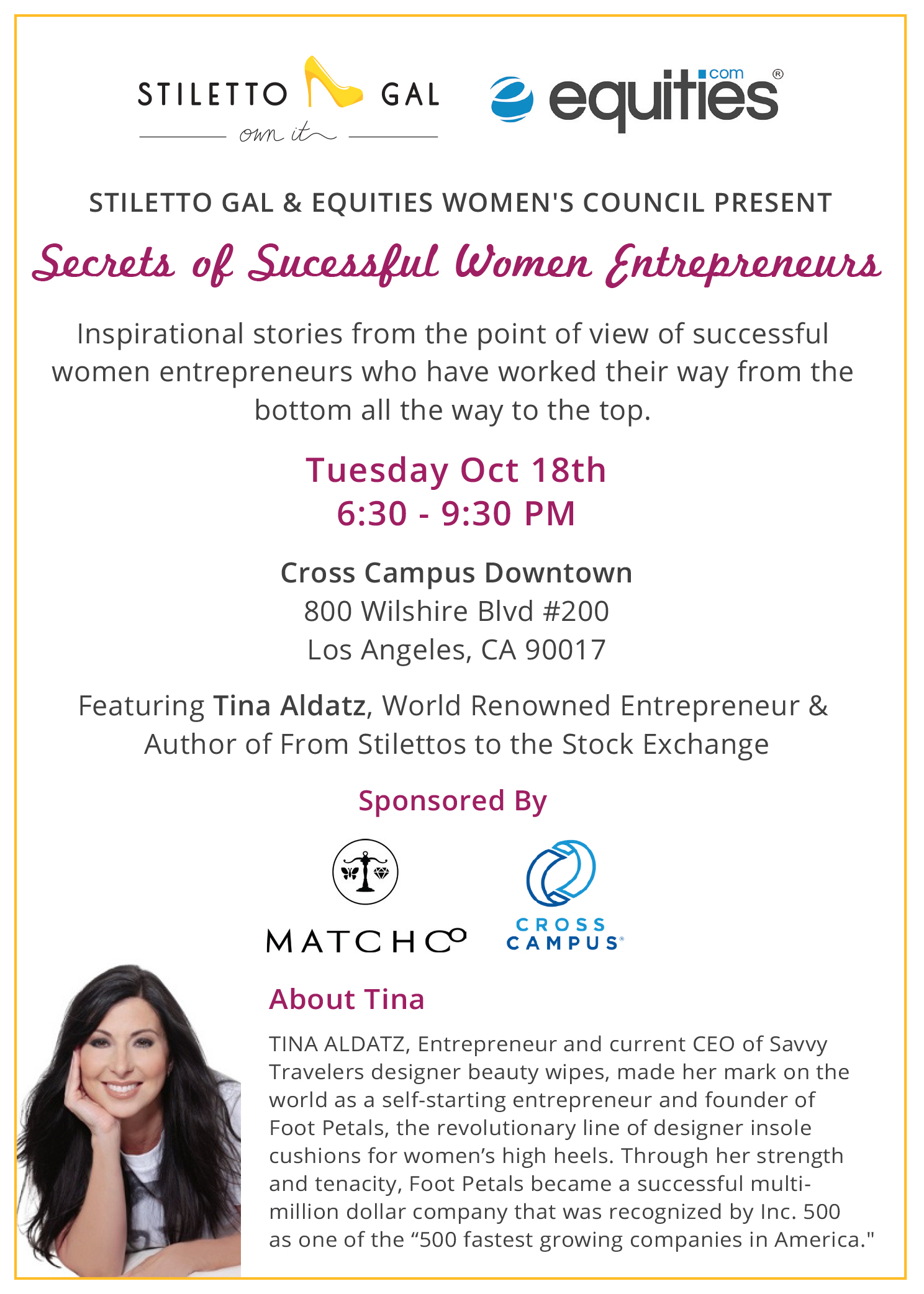 Secrets of Successful Women Entrepreneurs: Tina Aldatz