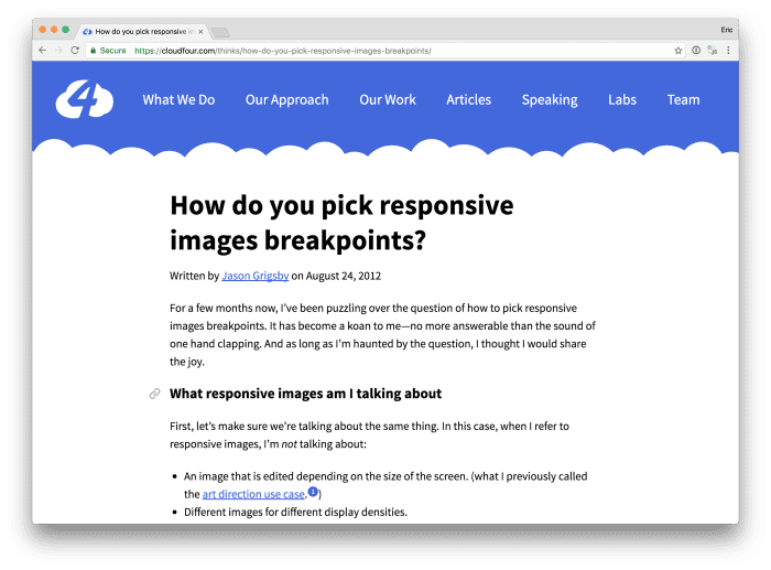 How to pick responsive image breakpoints
