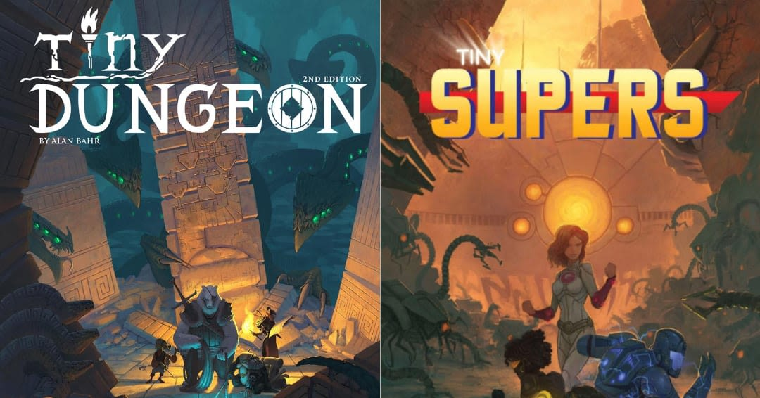 Tiny Dungeon e Tiny Supers