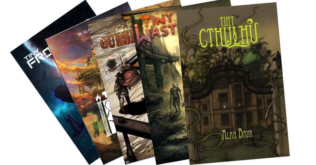 Vários livros baseados no TinyD6