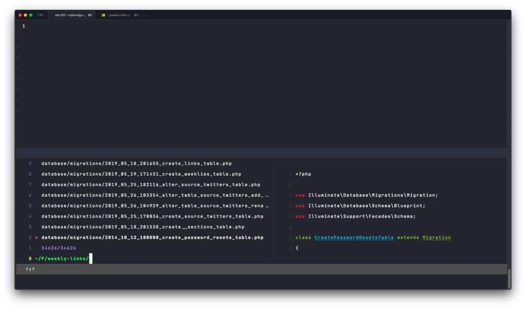 FZF.vim without any configuration