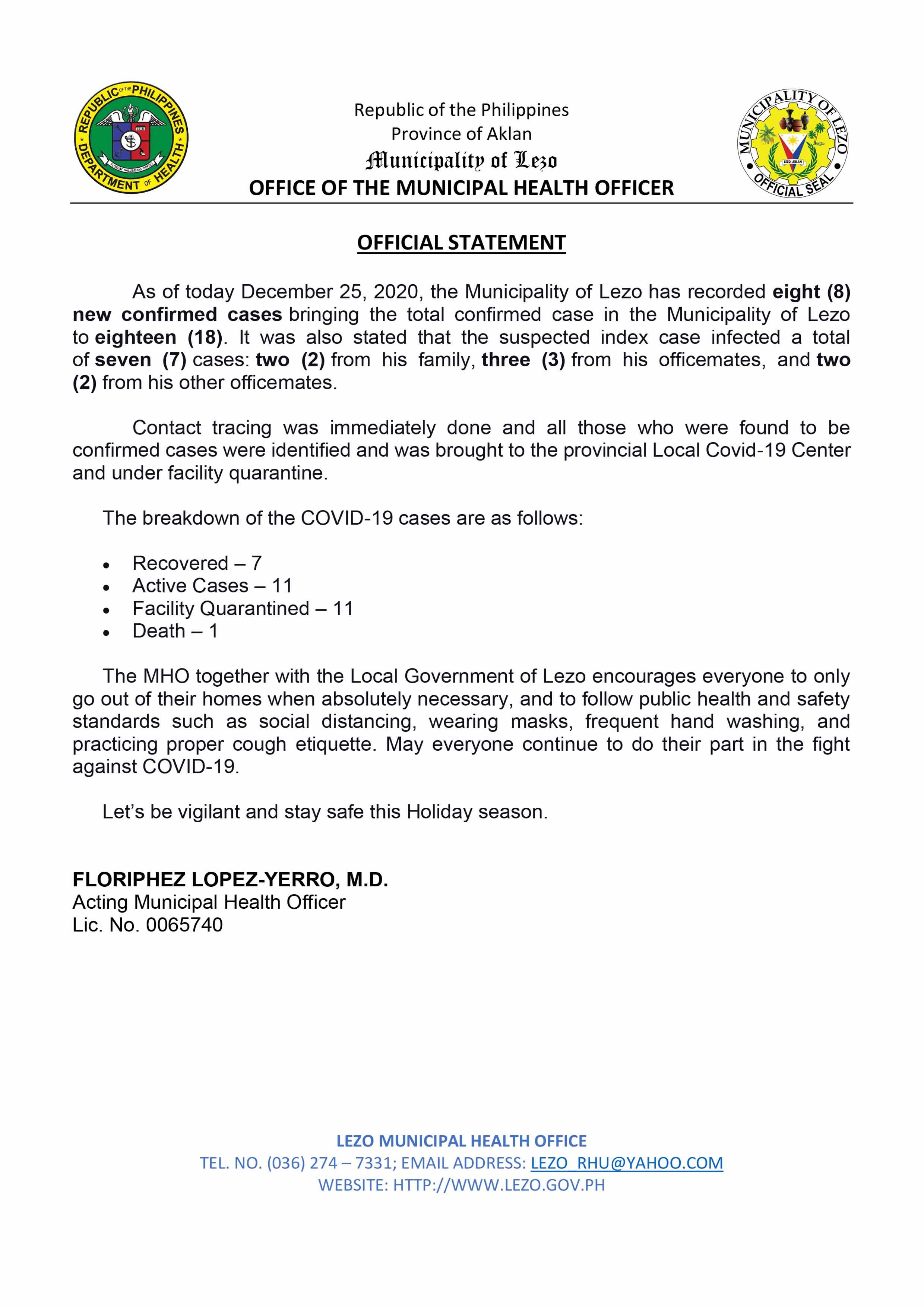 Lezo COVID-19 Case