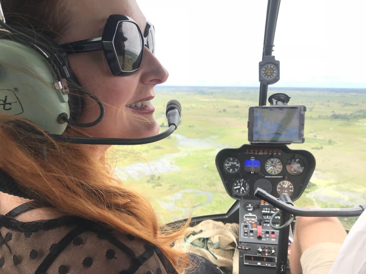 Helicopter Okavango Delta Joy Safari Africa Botswana