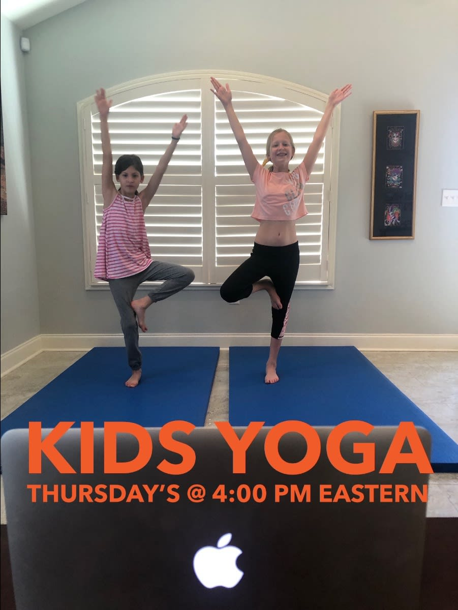 Kids Yoga w/ Escape to Shape owner Erica Gragg
