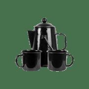 Emaljert kaffesett