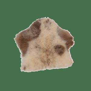 Brunbark sittdyna fårskinn
