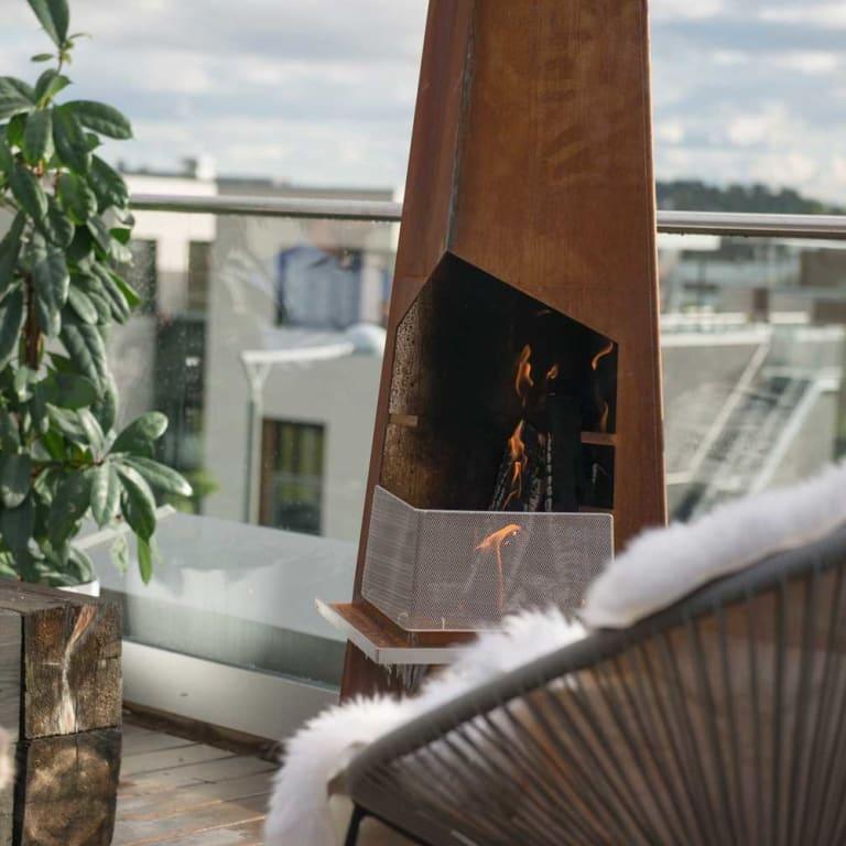 Utepeis på terrassen i sommer